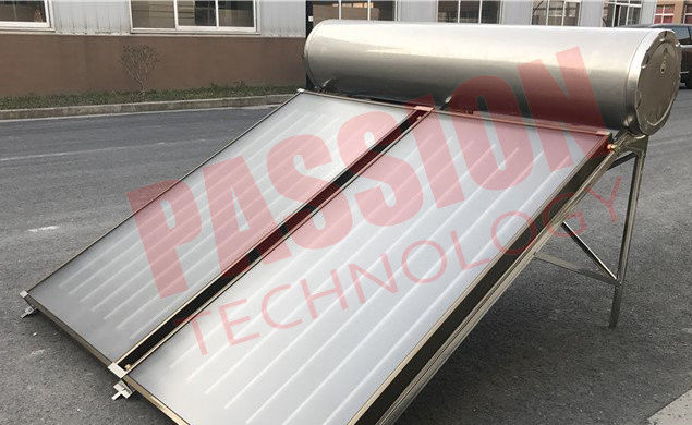 200L Stainless Steel Flat Plate Solar Water Heater With Sewage Purification For Washing