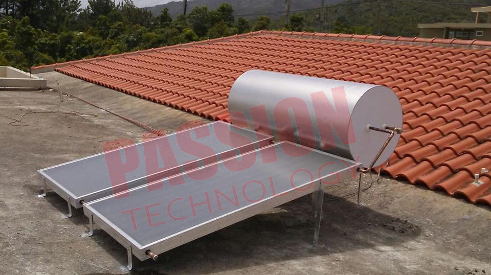 No Pollution Thermal Collectors Solar Panel Hot Water Heater Stainless Steel Blue Film