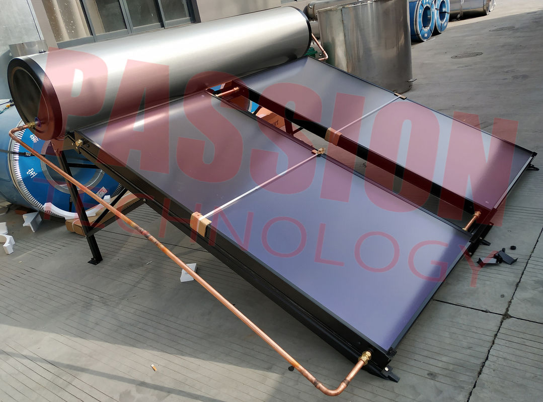 100L 200L 300L Flat Plate Solar Water Heater Rooftop Collector
